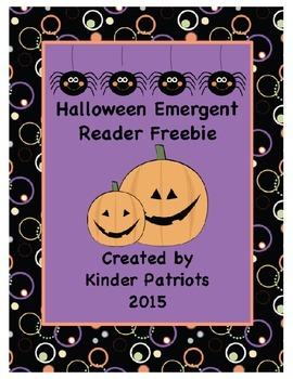 Halloween Emergent Reader with Fix-a-Sentence Freebie
