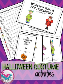 Halloween Emergent Reader with Graphing and Writing Activities