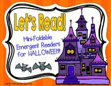 """Halloween Emergent Readers: 6 """"Print, Fold, and Go"""" Books!"""