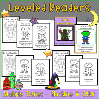 Halloween Emergent Readers-- Literacy and Math Activities: Little to No Prep