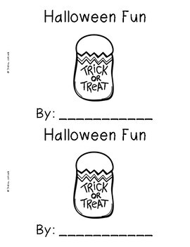 Halloween Emergent Readers {Set of 5 Read and Write Books}