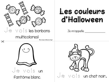 Halloween Emergent Readers in French -  Set of 3 mini-books