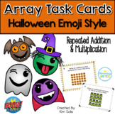 Halloween Emoji Array Task Cards
