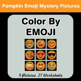 Halloween Emoji: Color by Emoji - Mystery Pictures