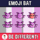 Halloween - Emoji Emotion Faces Bat Clipart
