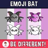 Halloween - Emoji Emotion Faces Bat Clipart