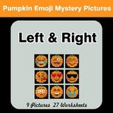 Halloween Emoji: Left & Right side - Color by Emoji - Myst