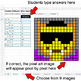Halloween Emoji - Number Patterns: Misc Operations - Google Sheets Pixel Art