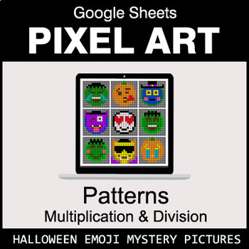 Halloween Emoji - Number Patterns: Multiplication & Division - Google Sheets