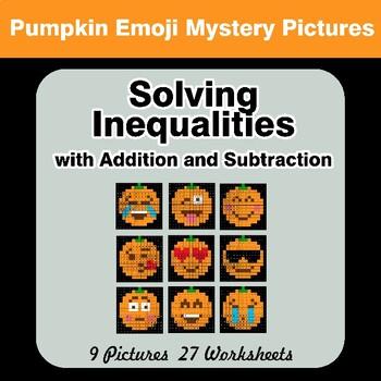 Halloween Emoji: One-Step Inequalities with Addition & Subtraction