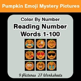 Halloween Emoji: Reading Number Words 1-100 - Color By Num