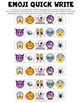 Halloween Emoji Writing Prompts