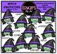 Halloween Emoticons Clip Art Super Bundle  {Educlips Clipart}