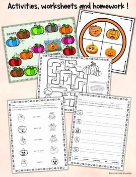Social Skills Activities: Pumpkin Emotions Bingo Game and Problem Cards