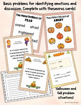 Social Skills Emotions Activities for Problem Solving  Pumpkins Theme