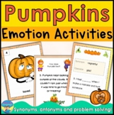 Social Skills Problem Solving and Emotions for Special Education Pumpkin Theme