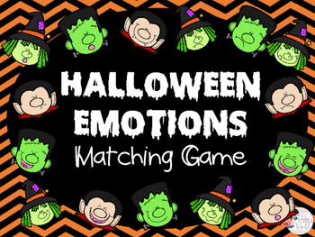 Halloween Emotions Memory Matching Game - Feelings, ASD, HFA