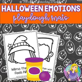 Halloween Emotions Playdough/Coloring Mats
