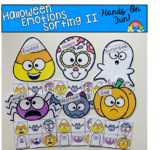 Halloween Emotions Sorting Mats 2