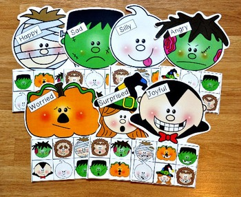 Halloween Emotions Sorting Mats