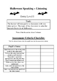 Halloween: English Speaking + Listening Functional Skills Activity