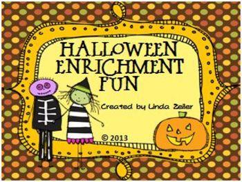 Halloween Enrichment Fun