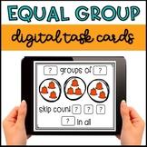 Halloween Equal Group Digital Task Cards