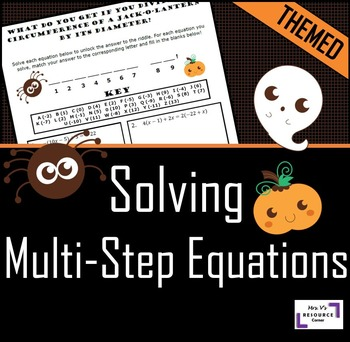 Halloween Equation Activity