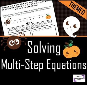Halloween Equation Activity