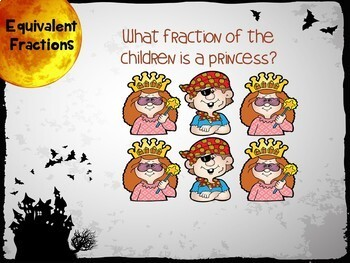 BOOM Halloween Equivalent Fractions - BOOM Cards! (24 Cards)