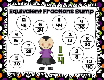 Halloween Equivalent Fractions Bump