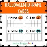 Halloween 10 Frame Cards for Preschool, Prek, and Kindergarten