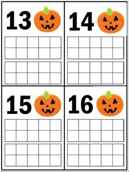Halloween Eraser Ten Frames