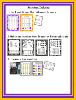 Halloween Erasers from Target: Kindergarten Math!