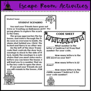 Halloween Escape Room Activities