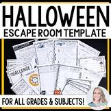 Halloween Escape Room Activity TEMPLATE