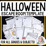 Halloween Escape Room Activity TEMPLATE