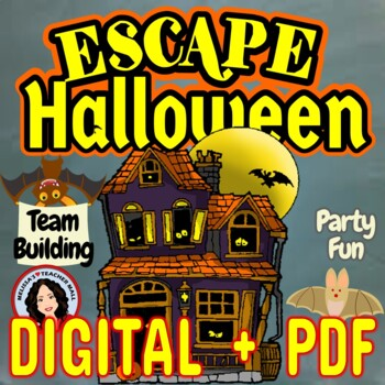 Escape Room Halloween Classroom Game Activity for Parties