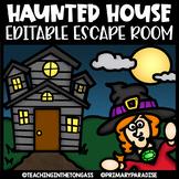 Halloween Escape Room | Editable Escape Room Halloween Math & ELA Activities