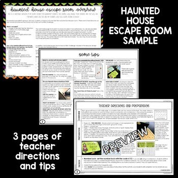 Halloween Escape Room FREEBIE