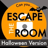 Halloween Escape Room Activity - Distance learning