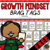 Growth Mindset Brag Tags (FREE) Positive Affirmation Cards for Student Rewards