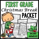 Christmas Packet: First Grade Christmas Break Packet