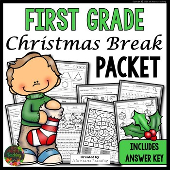 Christmas Packet: First Grade Christmas Break Packet