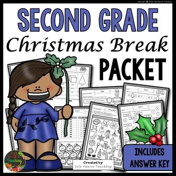 Christmas Packet: Second Grade Christmas Break Packet