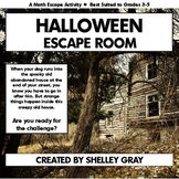 Halloween Escape Room | October Math Escape Activity