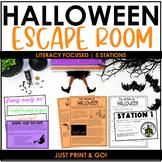 Halloween Escape Room [Print & GO!   Literacy   ELA   Reading]