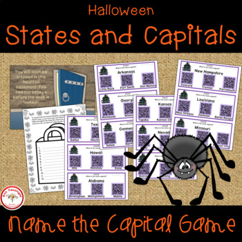 Halloween Escape Room States and Capitals