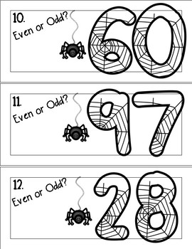 Halloween Math: Even/Odd Write the Room & Worksheets