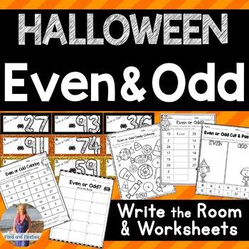 Halloween Even/Odd - Write the Room!